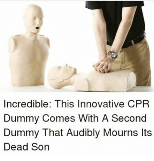 Cpr Dummy: Incredible: This Innovative CPR  Dummy Comes With A Second  Dummy That Audibly Mourns Its  Dead Son