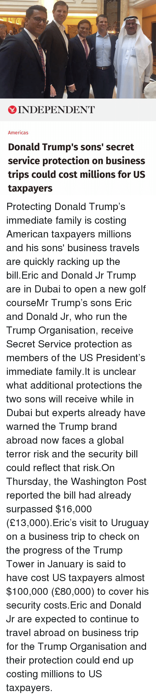 Eric Trump S Business Travel To Uruguay