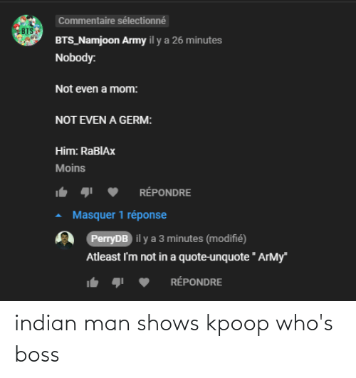 Indian: indian man shows kpoop who's boss