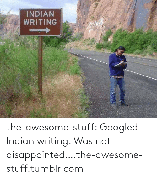 Disappointed: INDIAN  WRITING the-awesome-stuff:  Googled Indian writing. Was not disappointed….the-awesome-stuff.tumblr.com
