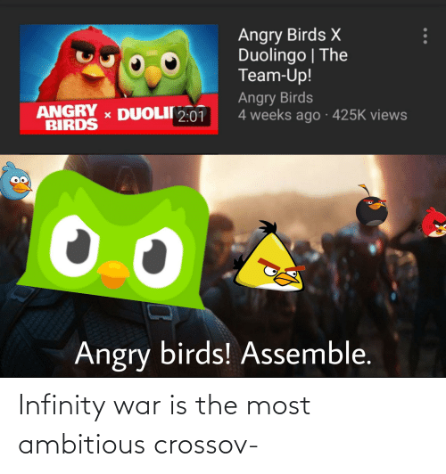 War Is: Infinity war is the most ambitious crossov-