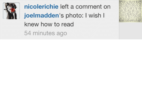 des: ing he bk d  fald  whr pt he  dring te Wh  nicolerichie left a comment on  E ing i m m s  joelmadden's photo: I wish I  he deIf pe f e de's depe  Theea d  te p  The ck  ring Mae  of da  knew how to read  54 minutes ago