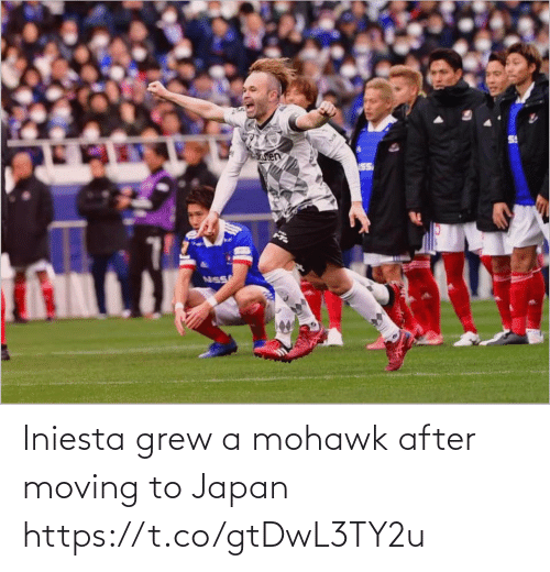 Japan: Iniesta grew a mohawk after moving to Japan https://t.co/gtDwL3TY2u