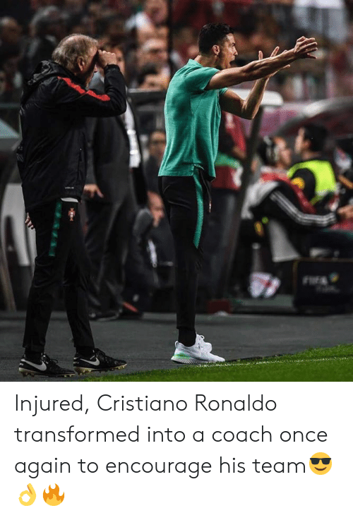 cristiano: Injured, Cristiano Ronaldo transformed into a coach once again to encourage his team😎👌🔥