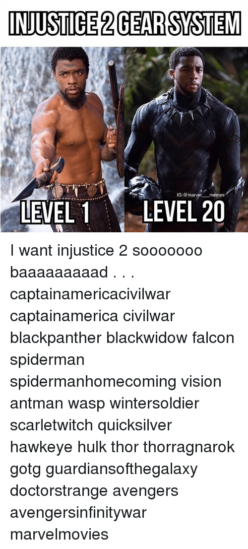 falcone: INJUSTICE 2GEARSYSTEM  IG:marvel memes  LEVEL LEVEL 20 I want injustice 2 sooooooo baaaaaaaaad . . . captainamericacivilwar captainamerica civilwar blackpanther blackwidow falcon spiderman spidermanhomecoming vision antman wasp wintersoldier scarletwitch quicksilver hawkeye hulk thor thorragnarok gotg guardiansofthegalaxy doctorstrange avengers avengersinfinitywar marvelmovies