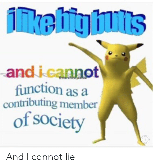 And I Cannot Lie: inkebitg ints  and i cannot  function as a  contributing member  of society  Prhererines And I cannot lie
