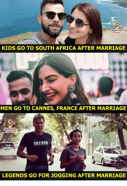 Africa, Marriage, and France: INO  KIDS GO TO SOUTH AFRICA AFTER MARRIAGE  MEN GO TO CANNES, FRANCE AFTER MARRIAGE  ONERU  LEGENDS GO FOR JOGGING AFTER MARRIAGE