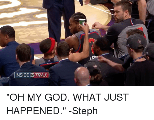 """God, Oh My God, and Sports: INSIDE (TNTTRAX """"OH MY GOD. WHAT JUST HAPPENED."""" -Steph"""