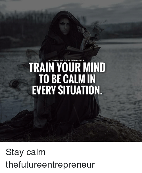 Future, Memes, and Entrepreneur: INSTAGRAMI THE FUTURE ENTREPRENEUR  TRAIN YOUR MIND  TO BE CALM IN  EVERY SITUATION Stay calm thefutureentrepreneur