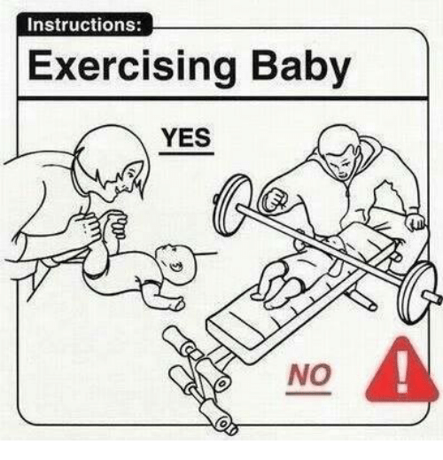 Funny Baby Meme Yes : Instructions exercising baby yes no it s cold