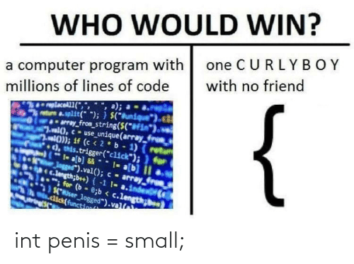 int: int penis = small;