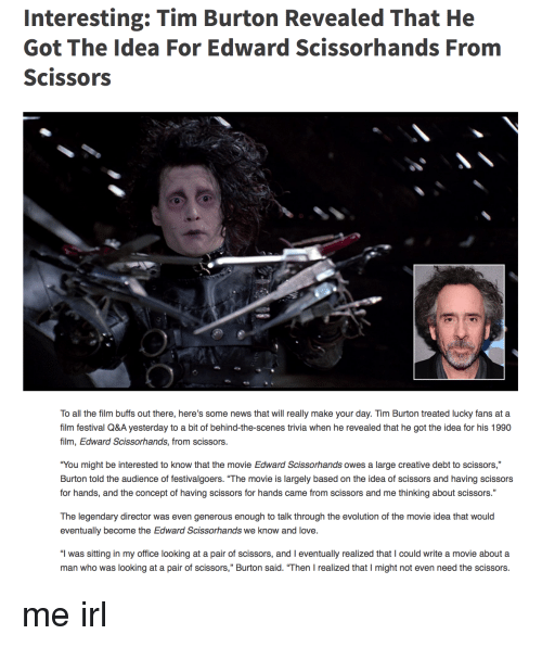 the idea of fitting in in edward scissorhands a film by tim burton 18th birthday party 30th party birthday ideas edward scissorhands tim burton movie named edward tim burton's edward scissorhands is a fit for any buccaneer.
