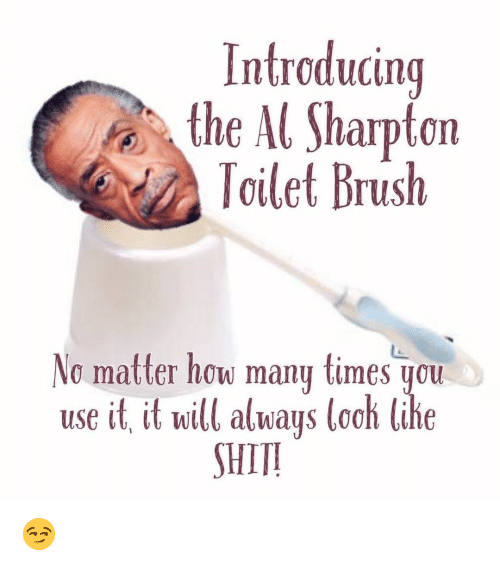 Image result for al sharpton in one ear and out the other meme