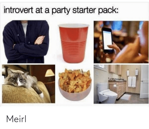 Starter Pack: introvert at a party starter pack: Meirl