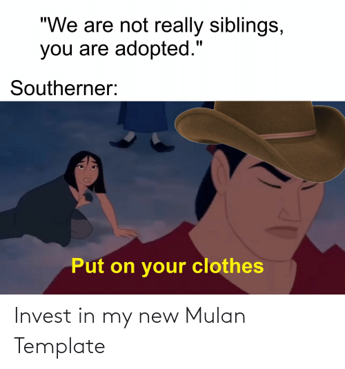 Mulan: Invest in my new Mulan Template