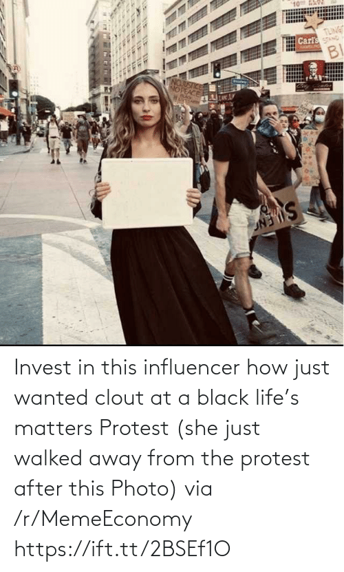 photo: Invest in this influencer how just wanted clout at a black life's matters Protest (she just walked away from the protest after this Photo) via /r/MemeEconomy https://ift.tt/2BSEf1O