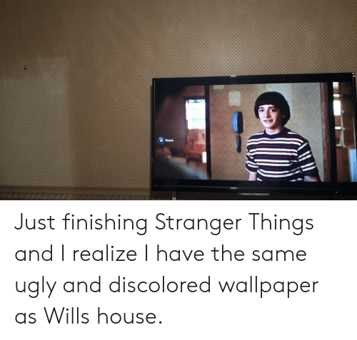 Wallpaper: IPausa Just finishing Stranger Things and I realize I have the same ugly and discolored wallpaper as Wills house.