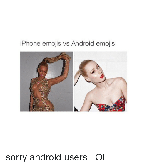 IPHONE VS ANDROID EMOJIS