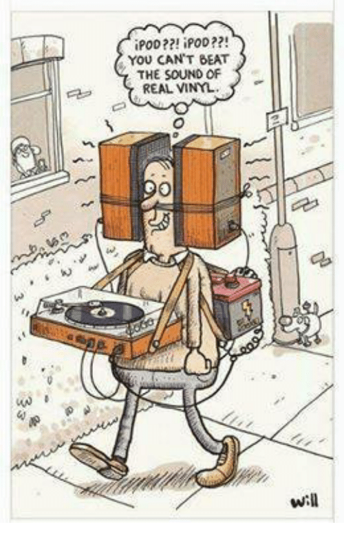 Memes, Ipod, and 🤖: iPOD??! iPOD??!  YOU CAN'T BEAT  THE SOUND OF  REAL VINYL  will
