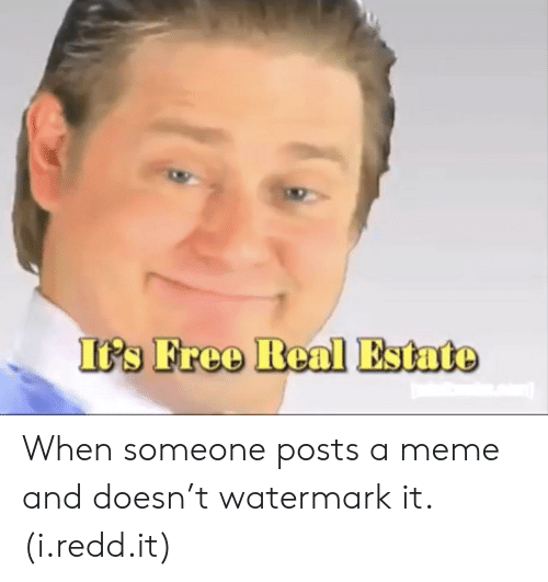 ips: IPs Free Real Estato When someone posts a meme and doesn't watermark it. (i.redd.it)