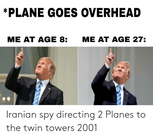 The: Iranian spy directing 2 Planes to the twin towers 2001