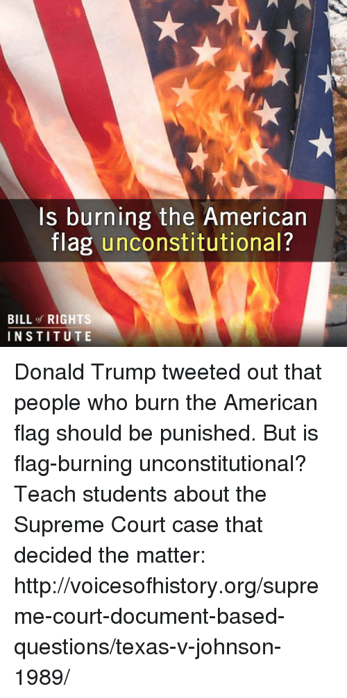flag burning should be punishable under the law