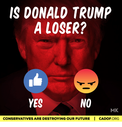 Donald Trump, Memes, and 🤖: IS DONALD TRUMP A LOSER? YES NO MK ...