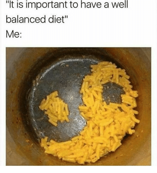 """Importanter: is  have  well  """"It important to a  balanced diet""""  Me:"""