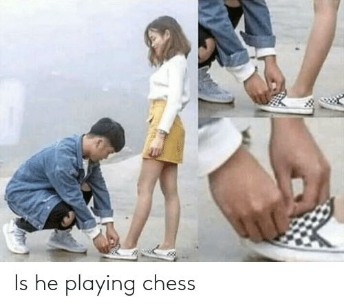 Chess: Is he playing chess