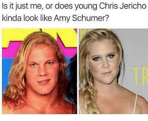 Amy Schumer, Funny, and Chris Jericho: Is it just me, or does young Chris Jericho  kinda look like Amy Schumer?