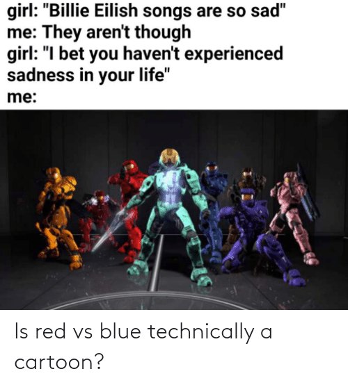 Red vs. Blue: Is red vs blue technically a cartoon?