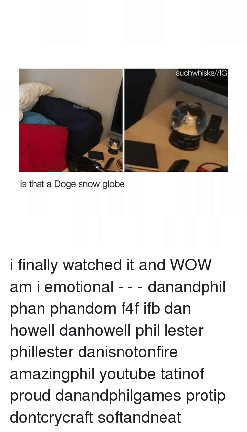 protip: Is that a Doge snow globe  Such whisks/VIG i finally watched it and WOW am i emotional - - - danandphil phan phandom f4f ifb dan howell danhowell phil lester phillester danisnotonfire amazingphil youtube tatinof proud danandphilgames protip dontcrycraft softandneat
