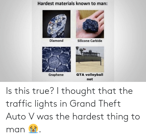 auto: Is this true? I thought that the traffic lights in Grand Theft Auto V was the hardest thing to man 😭.