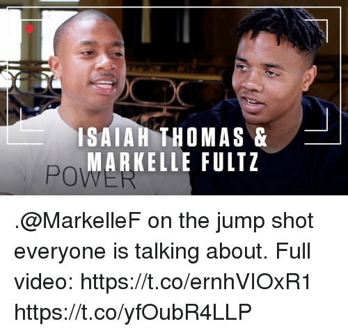 Isaiah Thomas: ISAIAH THOMAS&  MARKELLE FULTZ  PO .@MarkelleF on the jump shot everyone is talking about.   Full video: https://t.co/ernhVIOxR1 https://t.co/yfOubR4LLP