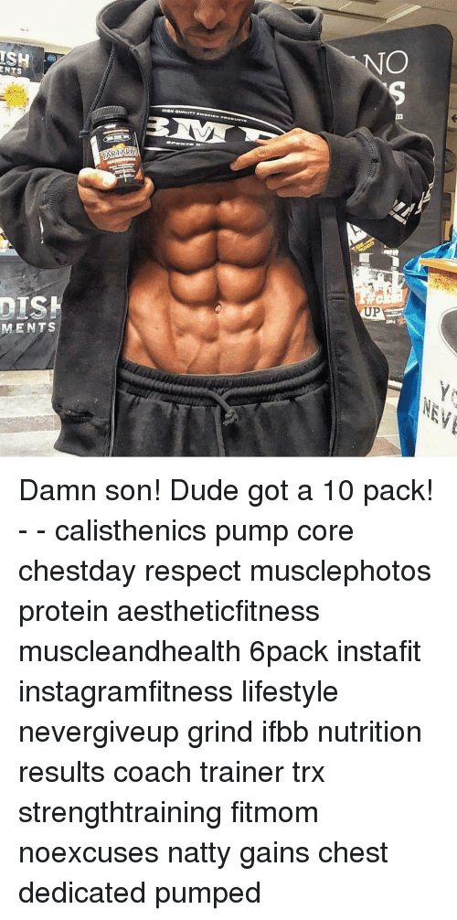 Memes, Protein, and Lifestyle: ISH  NTS  MENTS  NION QUALITY  UP Damn son! Dude got a 10 pack! - - calisthenics pump core chestday respect musclephotos protein aestheticfitness muscleandhealth 6pack instafit instagramfitness lifestyle nevergiveup grind ifbb nutrition results coach trainer trx strengthtraining fitmom noexcuses natty gains chest dedicated pumped