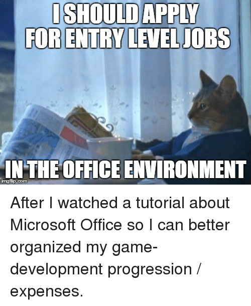 ishould apply for entry level jobs in the office environment