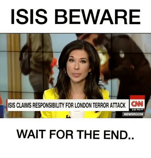 ISIS BEWARE ISIS CLAIMS RESPONSIBILITY FOR LONDON TERROR ...