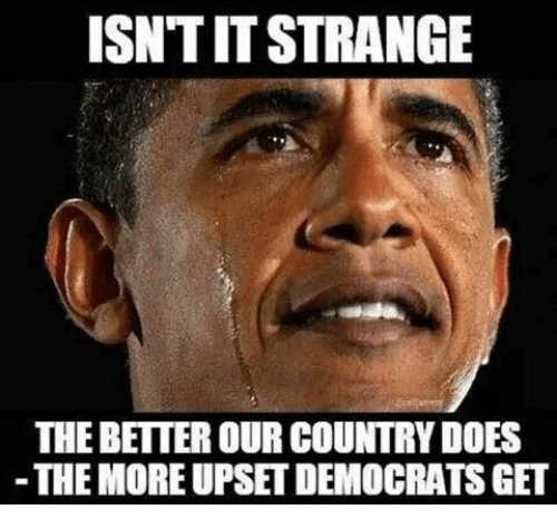 Memes, 🤖, and More: ISN'T IT STRANGE  THE BETTER OUR COUNTRY DOES  THE MORE UPSET DEMOCRATS GET