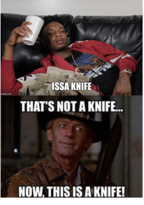 Issa Knife: ISSA KNIFE  mgf  THATS NOT A KNIFE...  NOW, THIS IS A KNIFE!