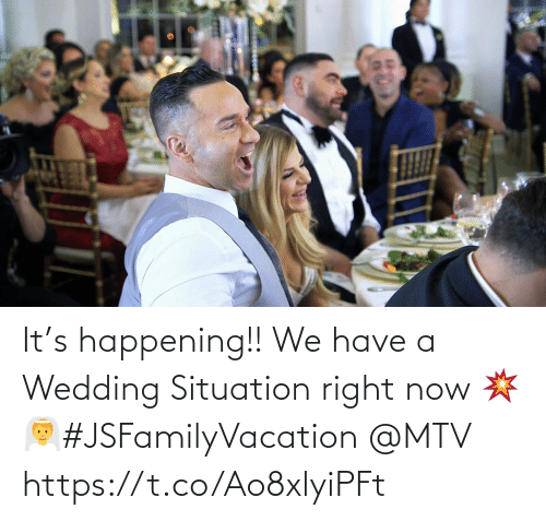 right: It's happening!! We have a Wedding Situation right now 💥👰#JSFamilyVacation @MTV https://t.co/Ao8xlyiPFt