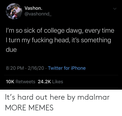 Out Here: It's hard out here by mdalmar MORE MEMES