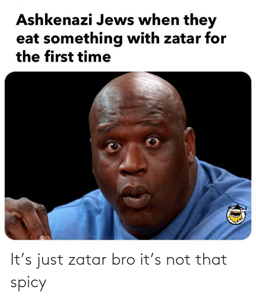 Spicy: It's just zatar bro it's not that spicy