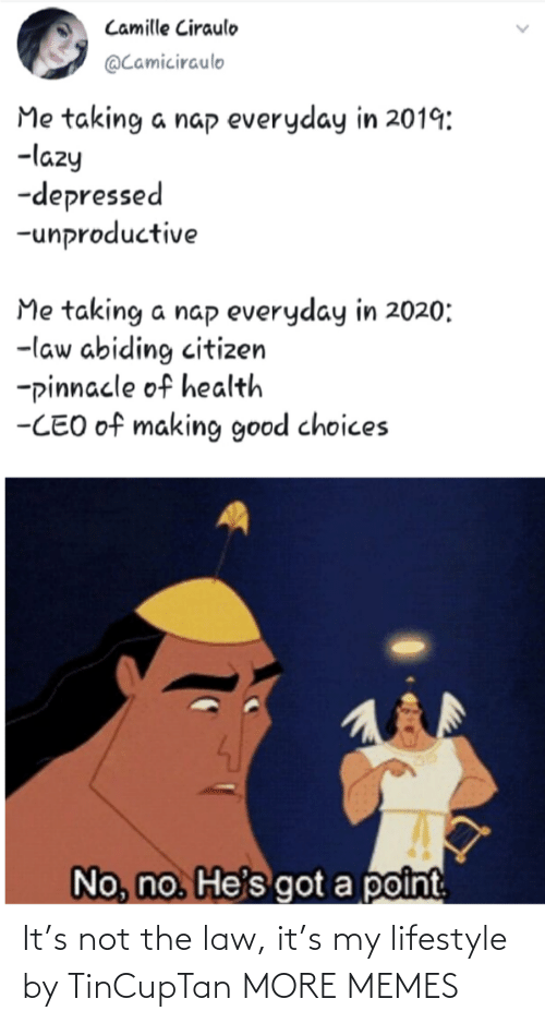 Lifestyle: It's not the law, it's my lifestyle by TinCupTan MORE MEMES