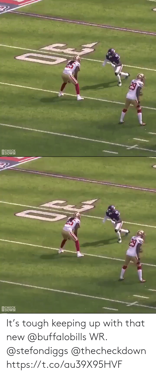 Keeping: It's tough keeping up with that new @buffalobills WR. @stefondiggs @thecheckdown https://t.co/au39X95HVF