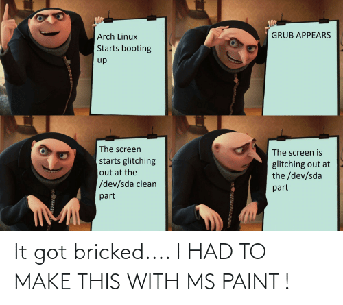 ms paint: It got bricked.... I HAD TO MAKE THIS WITH MS PAINT !