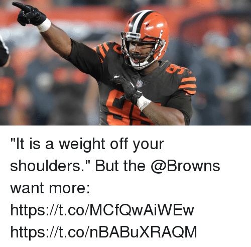 """Memes, Browns, and 🤖: """"It is a weight off your shoulders.""""  But the @Browns want more: https://t.co/MCfQwAiWEw https://t.co/nBABuXRAQM"""