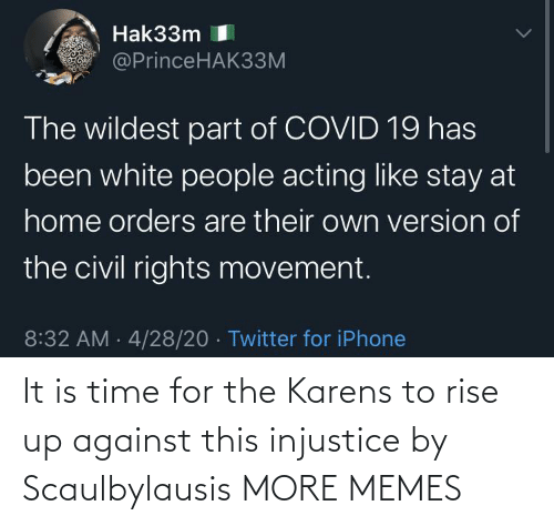 rise up: It is time for the Karens to rise up against this injustice by Scaulbylausis MORE MEMES