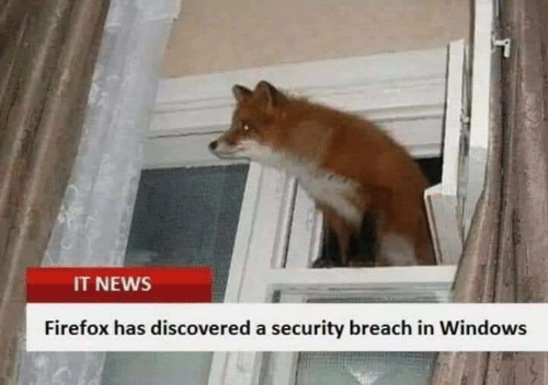 Firefox: IT NEWS  Firefox has discovered a security breach in Windows