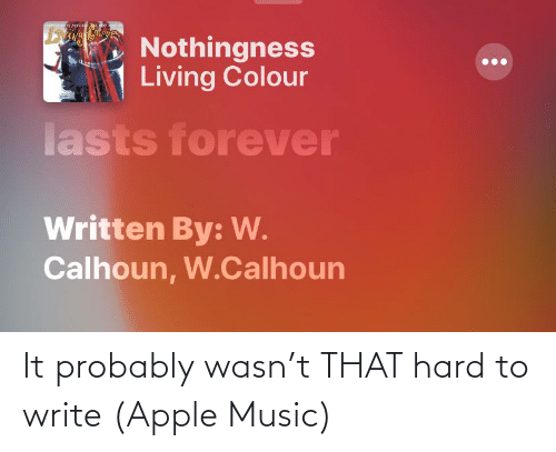 Apple Music: It probably wasn't THAT hard to write (Apple Music)