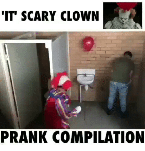 Prank, Indonesian (Language), and Clown: IT SCARY CLOWN  PRANK COMPILATION